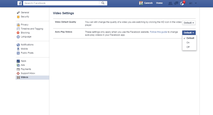 How to Disable Autoplay Videos on Facebook Video Setting
