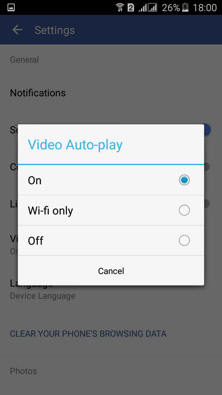 Press off button