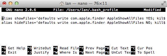 How to Show Hidden Files on Mac using terminal