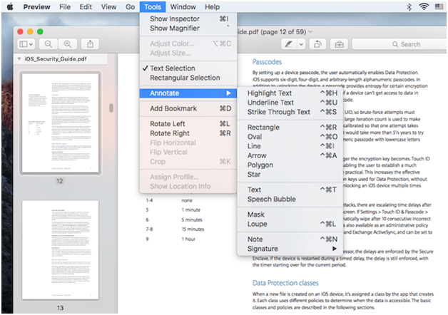 How to Edit PDF files Preview App