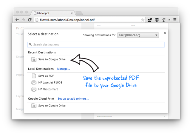 Removing PDF Password without Google Chrome