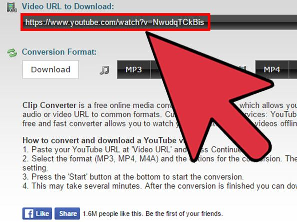 paste URL on youtube downloader