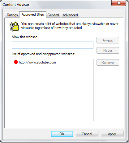 approved tab