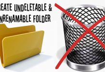 Create Undeletable Folder In Windows