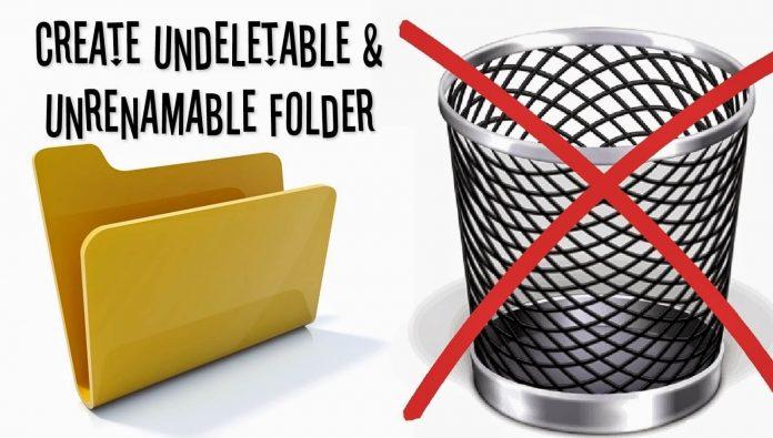 Create Undeletable Folder In Windows