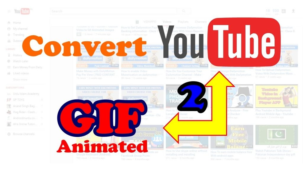 how to make youtube video into gif