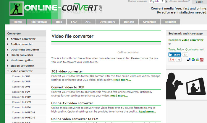 Online-Convert Best free video converters