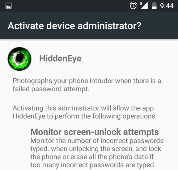 Hidden_Eye : Capture Someone's Picture Who Tries To Unlock Your Phone