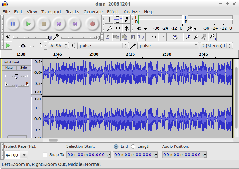 Clean Up with Audacity