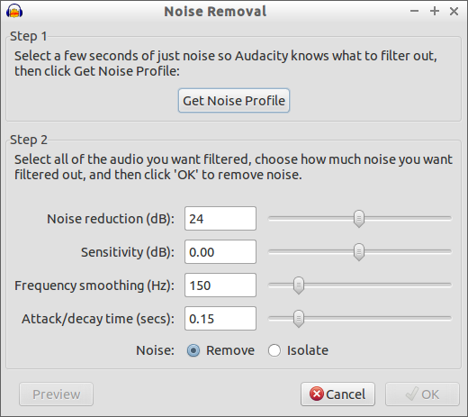Removal Noise