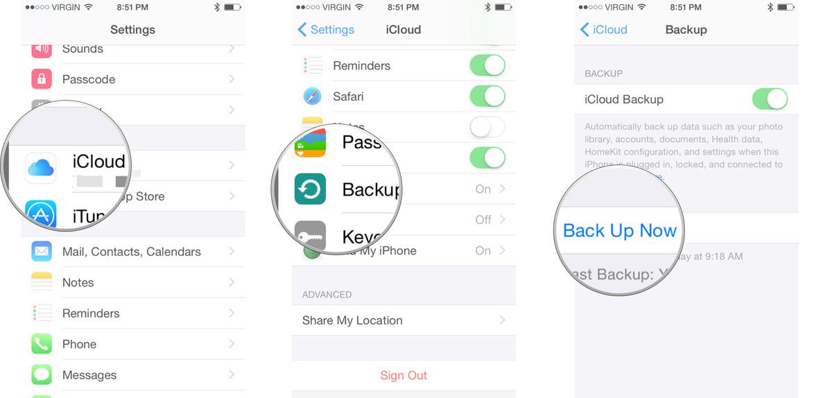 Backup iPhone Data