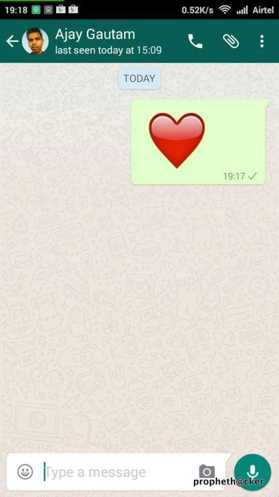 Send heart