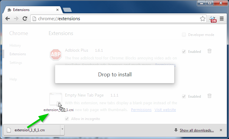 drag and drop download file