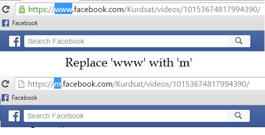 replace www with m