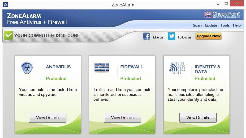 Check Point ZoneAlarm Free Antivirus + Firewall