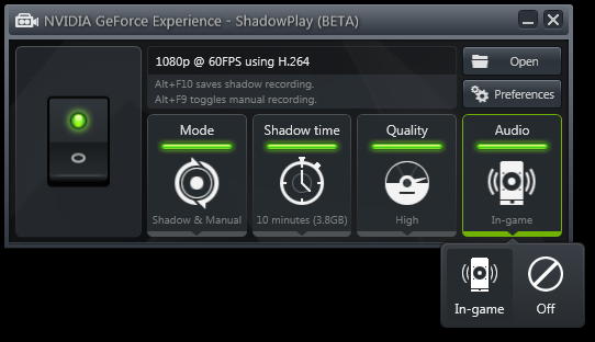 Shadowplay software