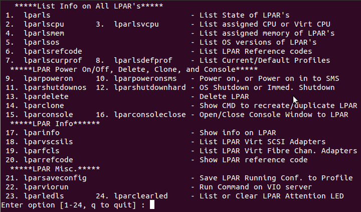 Command Line User Interface Linux
