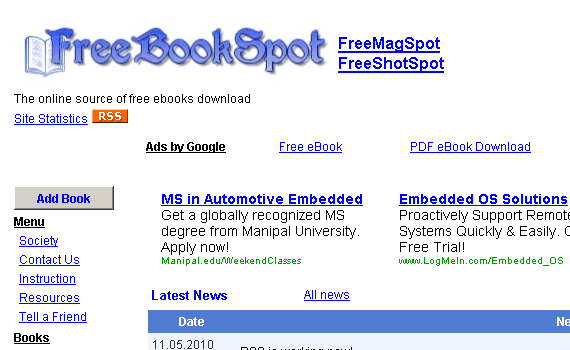 FreeBookSpot Book Torrent Site