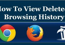 Recover deleted Browsing History