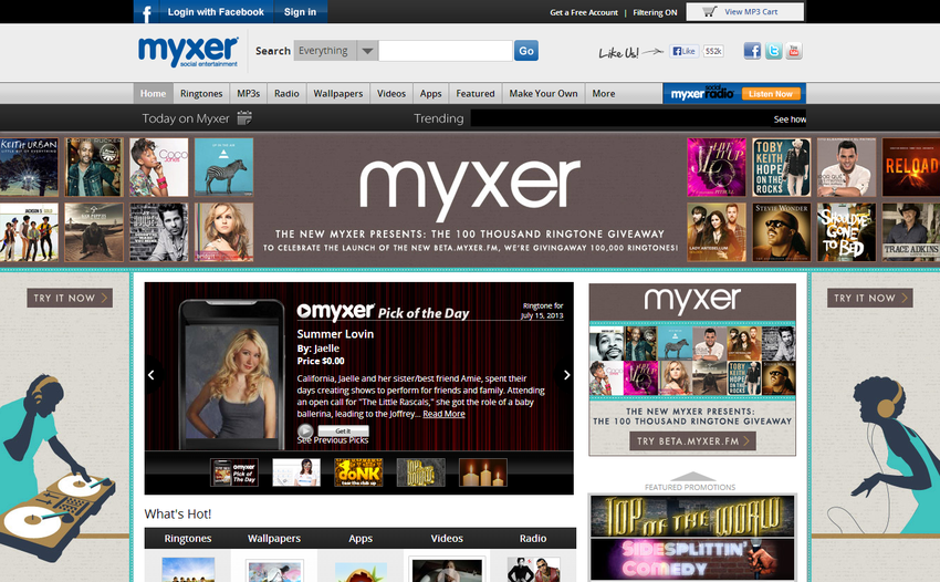 Myxer Free RingtonesMusicApps And More