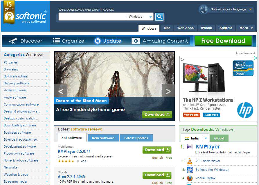 Game.Softonic : best websites to download pc games