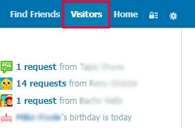 Visitors tab
