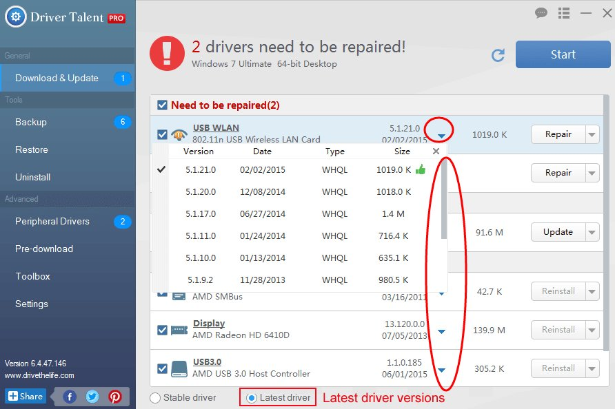 Repair Network Drivers