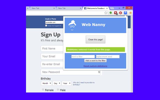 Nanny : How to bloxk websites on chrome