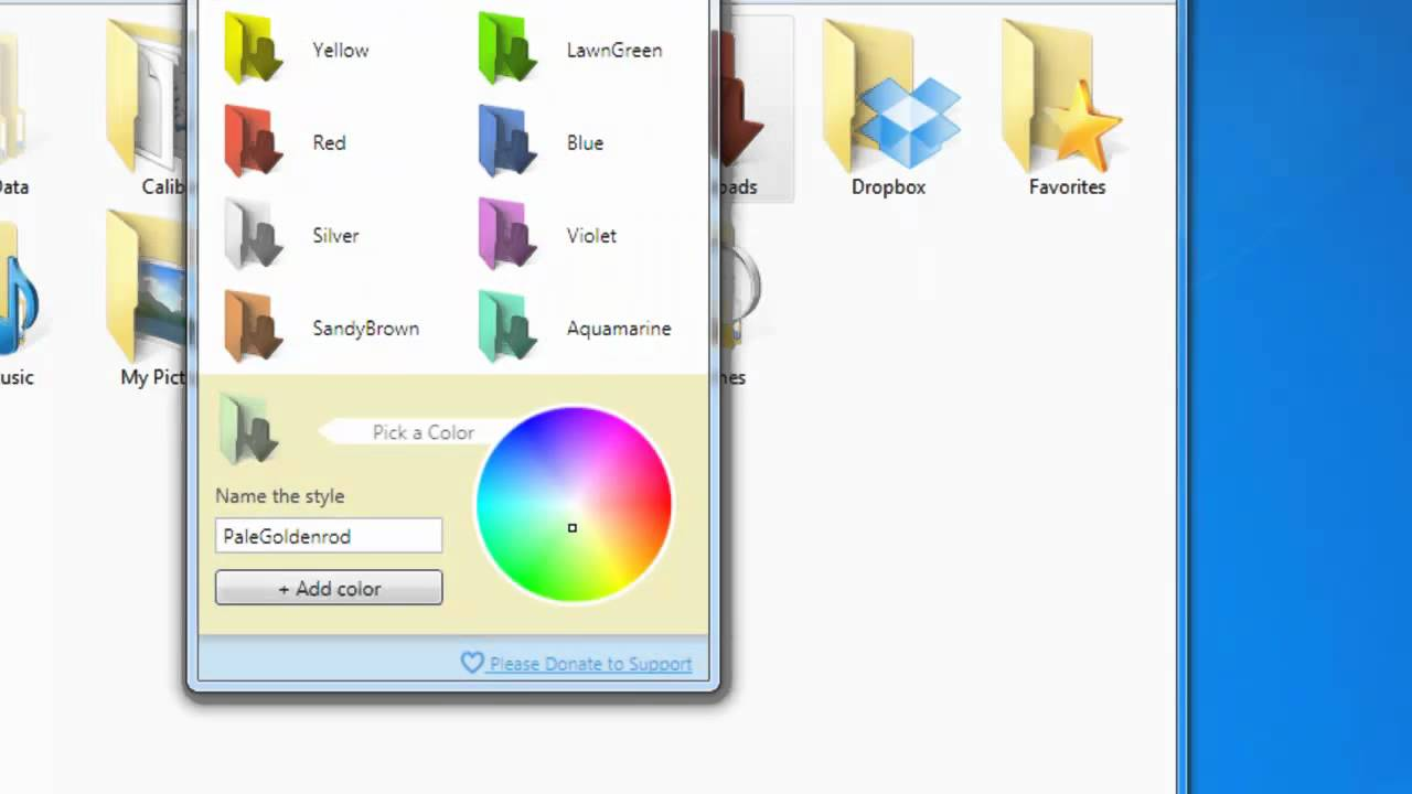 how to change folder icon color in windows 10