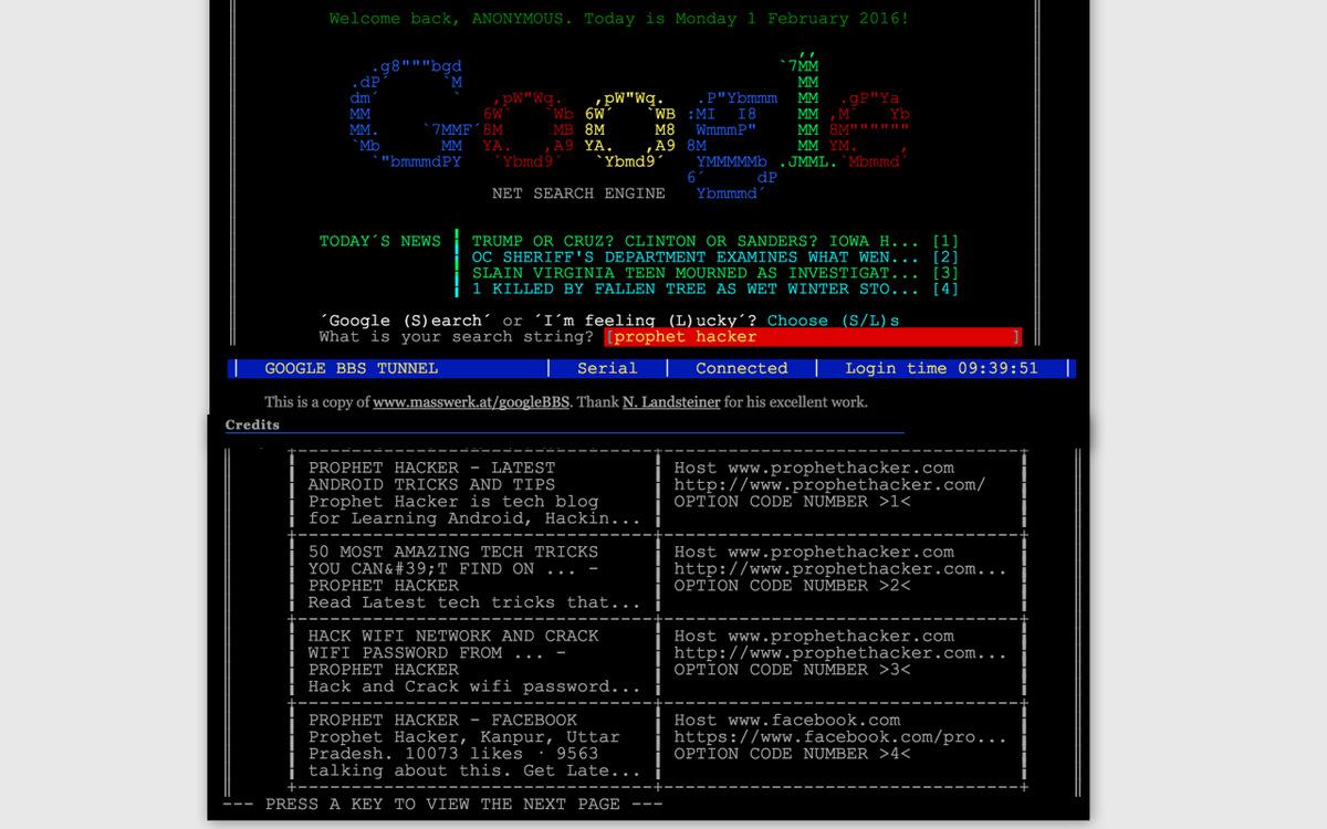 Google Terminal Troll Websites