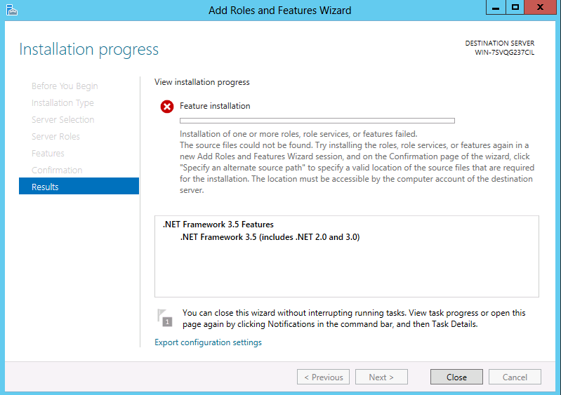 .net framework installation