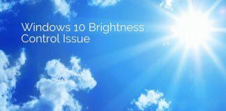 Windows 10 Brightness Control issue