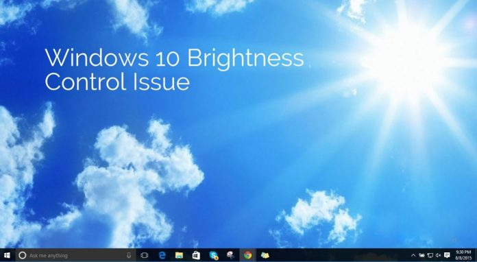 Windows 10 Brightness Control issue