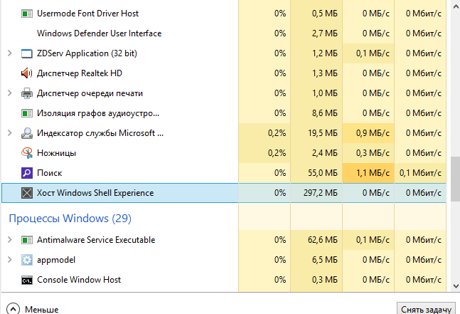 Windows Shell Experience Host