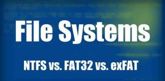 exFat vs NTFS