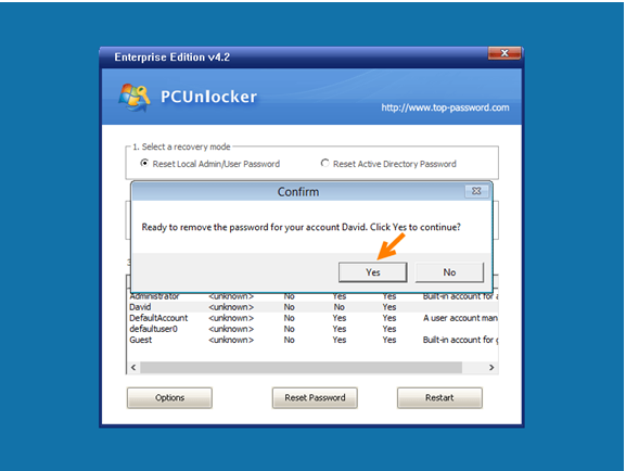 PCUnlocker Next Step