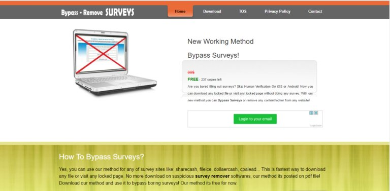 Survey Remover Tool - Bypass Survey using Software Extension