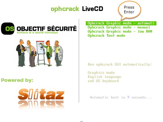 ophcrack live cd