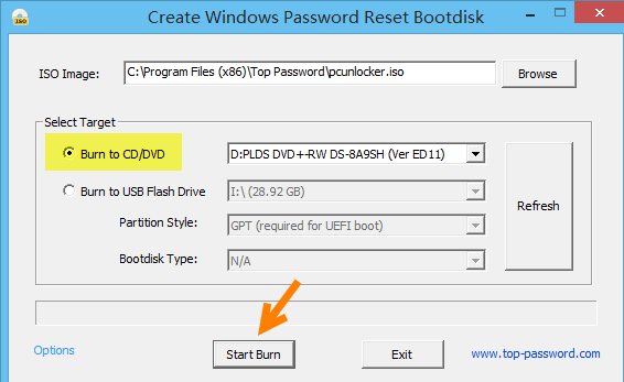 windows password reset bootdisk
