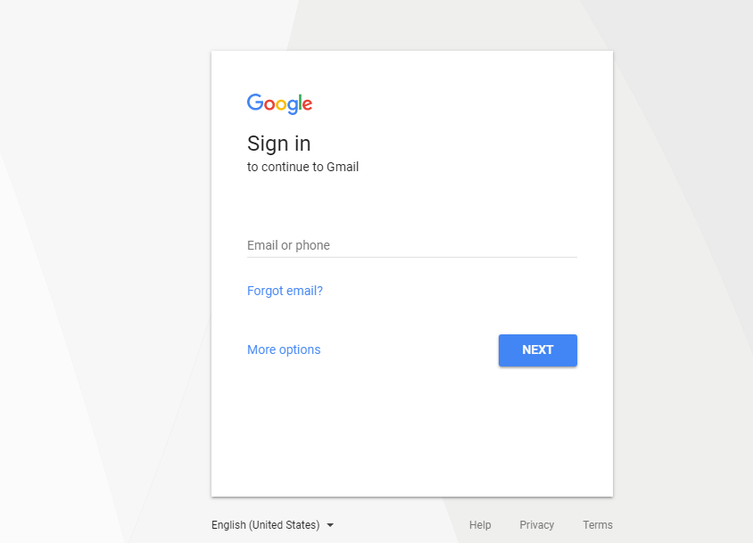 Authentication Google account