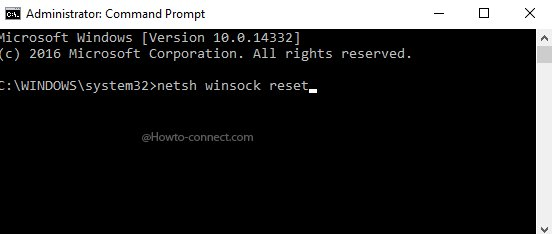 write netsh command : reset network settings windows 10