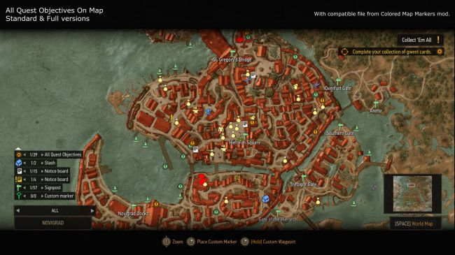 1. All Quests Objectives on Map Mod
