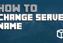 How to Change Server Name Minecraft