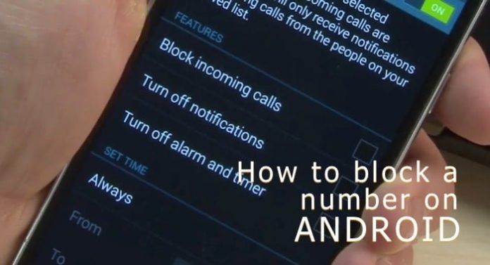 how to block a number on your Android