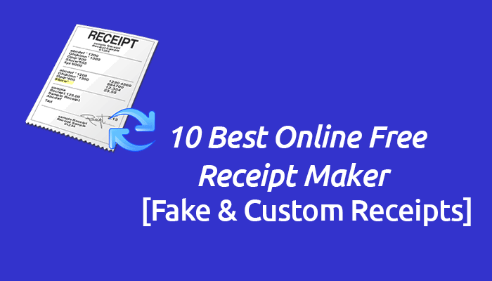 top 10 fake receipt maker available online in 2018