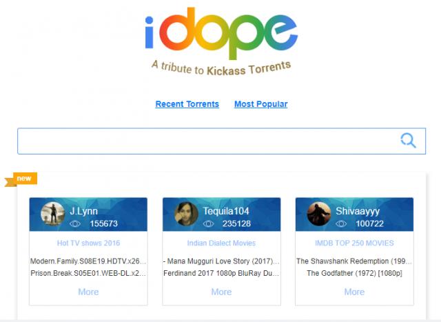 iDope - torrent sites